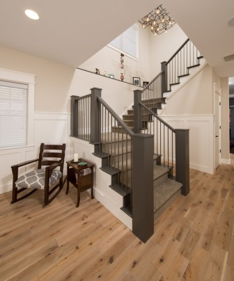 Falls Church, VA-Custom Design Staircase